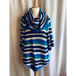 New Directions Weekend Cowl-Neck Sweater Small